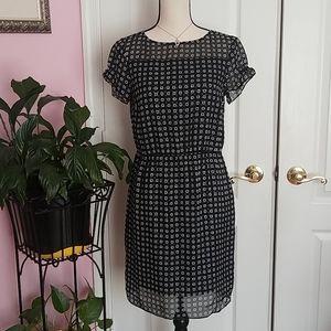 Brooks Brothers womens black silk mini dress 6p